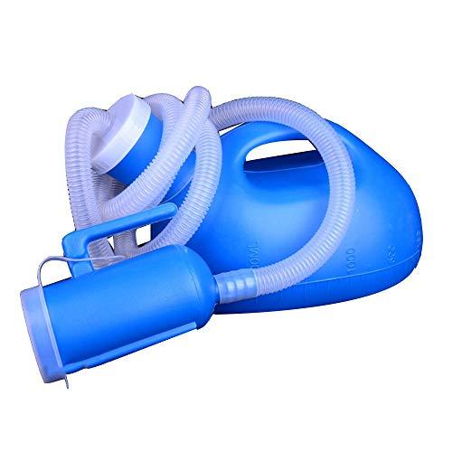 QULONG Frascos Portátiles De Orina Pequeños Orinales Pequeños Frascos Urinarios con Desodorante Y Tubo Largo De 2 litros De Gran Capacidad para Ancianos De Autos Salvajes,Blanco