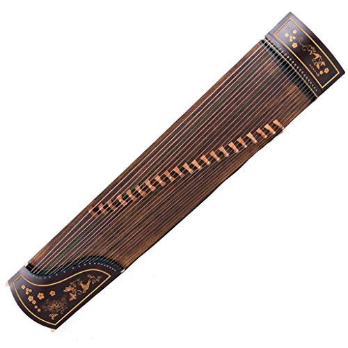 GuanXiao Chinesische Zither Massivholz Palisander Handgeschnitzte Professionelle Spielzither Klassisches Traditionelles Orchesterinstrument