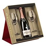 Bollinger Rose Champagne in Gift Box with Two Flute Red NV