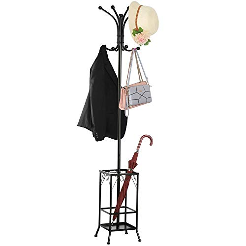 Yaheetech Coat Rack and Umbrella Stand, Entryway Coat Rack...