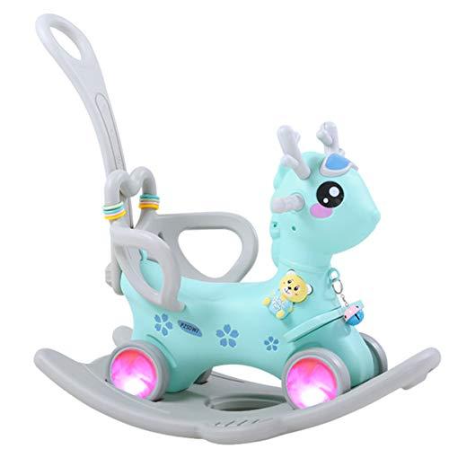ZHKXBG Baby Schaukelpferd, Kinder Schaukel, Kind Schaukel Tier, Indoor Outdoor Baby Schaukelstuhl, Geschenk für 1-3Y,Blau,Rocking Horse