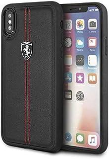 غطاء حماية هيريتيج صلب لهاتف ايفون اكس من فيراري - اسود