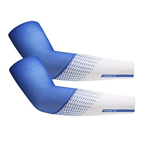 MU2827924 Unisex Hülse UV Schutzhülse Hülse Hülse Seide Solargolf Cycling Walze Eisklettern Tätowierungarm Hülse heiß,Blau,L