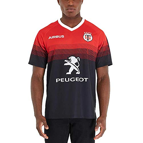 Maillot De Rugby,2020 T-Shirt Toulouse Rugby Supporter Maillot Stade Toulousain Vêtements De Rugby Toulouse France(S-XXXL-Home-S