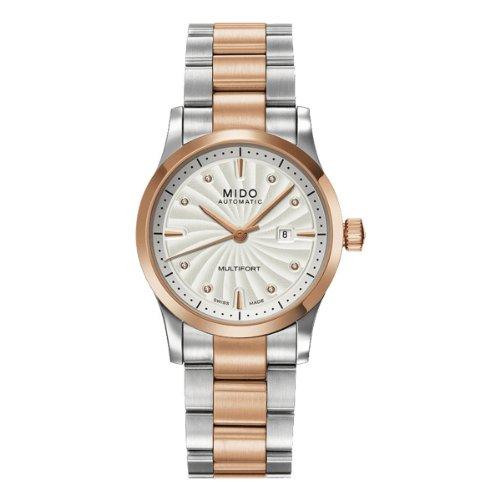 Mido Damen-Armbanduhr XS Multifort Analog Automatik Edelstahl beschichtet M0050072203600