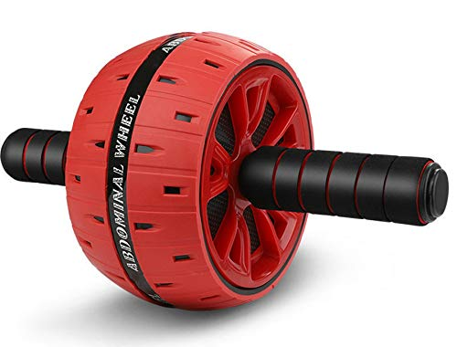 LIGOU Ab Roller for Abs Workout, Ab Roller Wheel Exercise Equipment for Core Workout, Ab Wheel Roller for Home Gym, Ab Workout Equipment for Abdominal Exercise (Red)