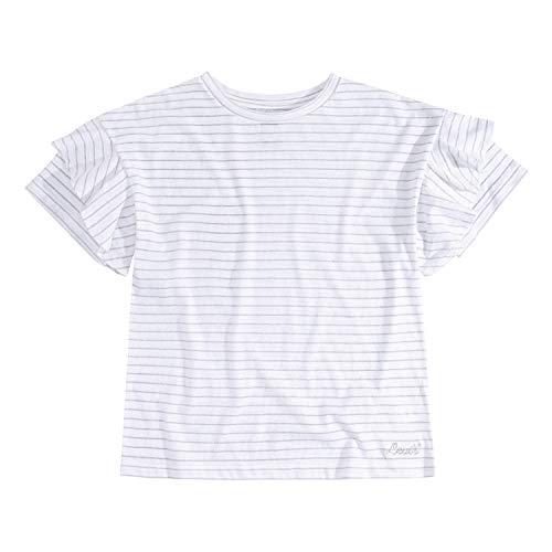 Levi's Ruffled Oversized Knit T-Shirt Camiseta, Blanco/Lurex, L para Niñas