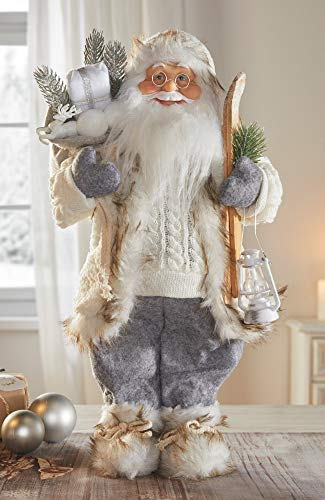 """Santa-Claus-Figur """"Winter"""", 46 cm hoch, Deko Weihnachtsmann, Nikolaus, Christkind"""