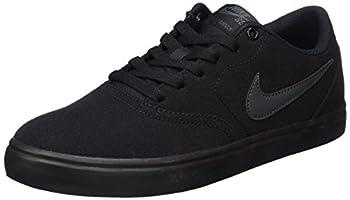 Nike Men s SB Check Solarsoft Canvas Skate Shoe Black/Anthracite 12