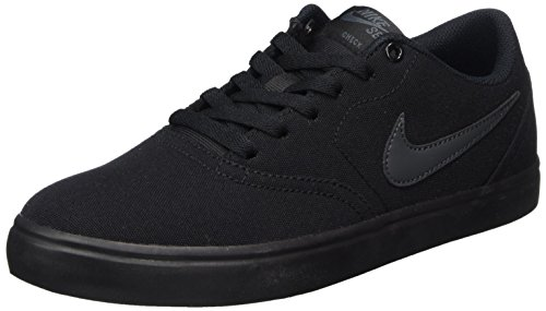 Nike 843896-002: Mens SB Check Solarsoft Black/Anthracite Canvas (6 D(M) US Men)