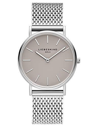 Liebeskind Berlin Damen Analog Quarz Uhr mit Edelstahl Armband LT-0169-MQ