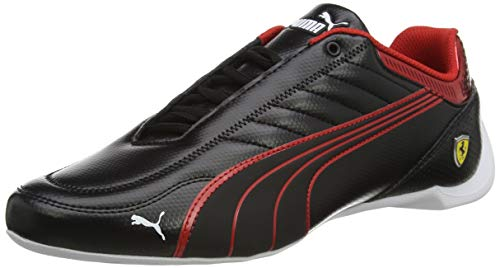 PUMA Ferrari Race Future Kart Cat, Zapatillas, Black/Rosso Corsa, 38 EU