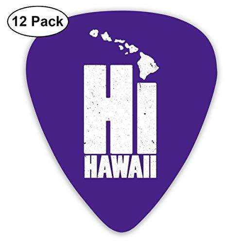 ハワイ島とこんにちは ギターピック モダン実用い電気音響ギターの付属品 マルチ仕様 (Thin 0.46mm、Medium 0.71mm、Heavy 0.96mm 各4枚)