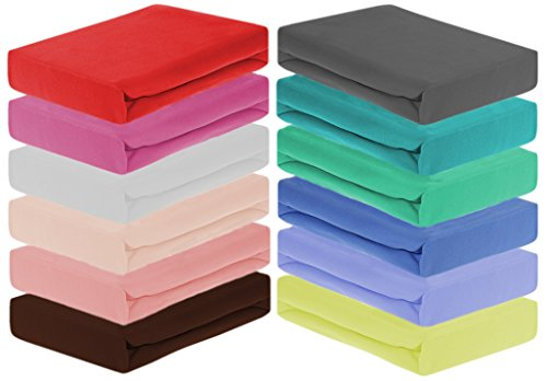 Home-Impression Winter Thermo Soft Fleece Spannbettlaken, Spannbetttücher aus Microfaser Fleece, Laken, Betttuch, Grösse 140-150x200cm, Farbe: BRAUN
