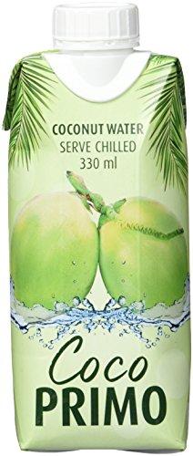 COCO PRIMO Kokosnusswasser, pur, erfrischendes Sportgetränk, exotischer Genuss, wohltuender Durstlöscher, kalorienarm, vegan, 12 x 330 ml