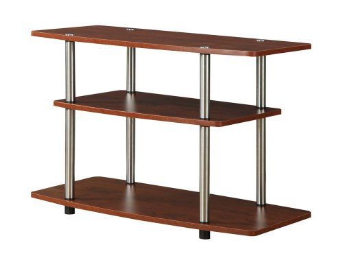 Convenience Concepts Designs2Go 3-Tier TV Stand, Cherry