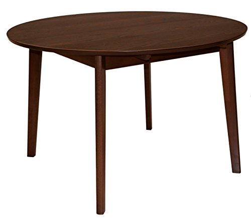 Suska-Regalos Mesa Extensible Redonda Color Nogal, Madera, 120 X 7 5 cm-ext. + 30 cm-Tabl.18 mm
