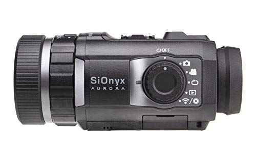 SIONYX Aurora Black I Full-Color Digital Night Vision Camera with Hard Case I Ultra Low-Light IR Night Vision Monocular I Weapon Rated, Water Resistant, WiFi & Time Lapse.