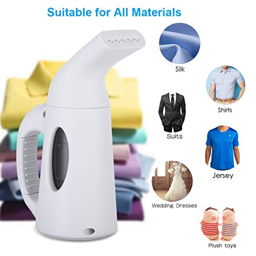 Steam Iron for Clothes - Garment/Fabric Steamer Wrinkle Remover - Powerful Best Portable Compact Mini Small Steam Iron for Travel & Home (White)