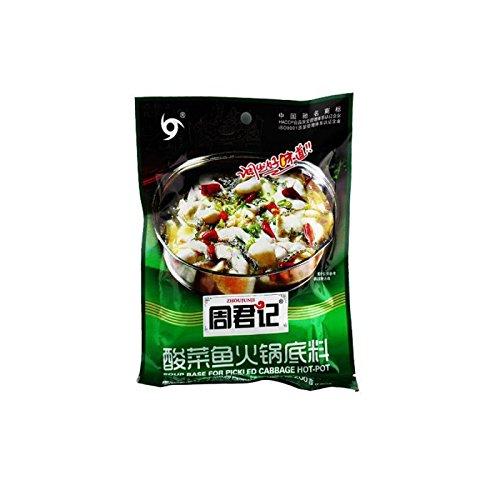 周君記酸菜魚火鍋の素200g/鍋の素/調味料中華料理
