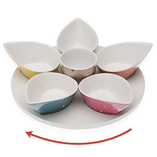 takestop® Aperitivo - Juego de 6 cuencos de colores de porcelana con...