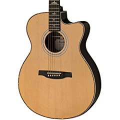Solid Sitka Spruce top Ovangkol back & sides Fishman Gt1 electronics PRS trademark bird inlays and headstock design Includes high-quality hard-shell case