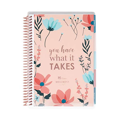 Erin Condren Coiled A5 Daily Wellness Planner, Features 160 Pages of 80 Pound Mohawk Paper Boost Productivity, Durable, Pretty, Cute, Stylize