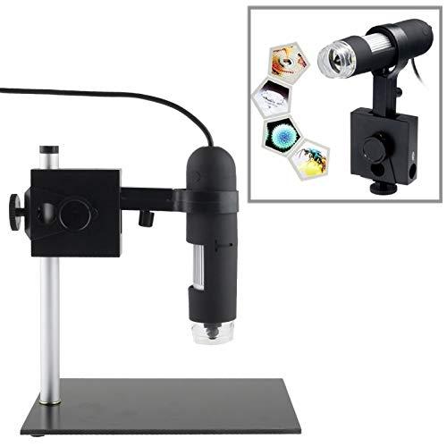 Luoshan Microscopio Digital USB 1.3 Mega Pixels 1000X con 8 Luces LED/Soporte