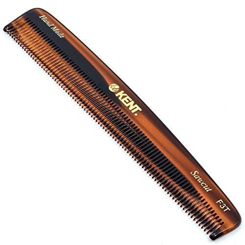 Kent F3T Fine Tooth Comb for Hair Care/Parting Comb and Combs for Men and Combs for Women - Dandruff Hair Comb/Kent Mens Combs for Hair Fine Teeth Comb Hair Comb Fine/Men Comb Comb for Women