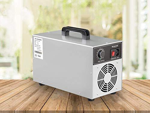 Maquina de ozono desinfectante 5000MG/h. Purificador de aire eliminador de olores. Funcionamiento sencillo y eficiente de bajo consumo. Amplia gama de usos.