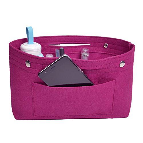 NOTAG Taschenorganizer Handtasche Kosmetik Organizer Tasche Organizer Leichte Große Kapazität Aufbewahrungstasche Accessoires Kosmetiktasche 6 Farben (S, Rosa)
