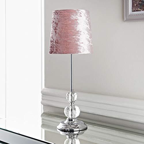 Kristall-Tischlampe, Samt, ideal als Raumdekoration