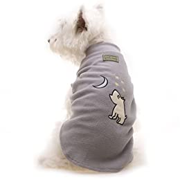 Hamish McBeth Silver Grey Moon Dog Pyjamas Fleece Jumper Size 3 (35cm)