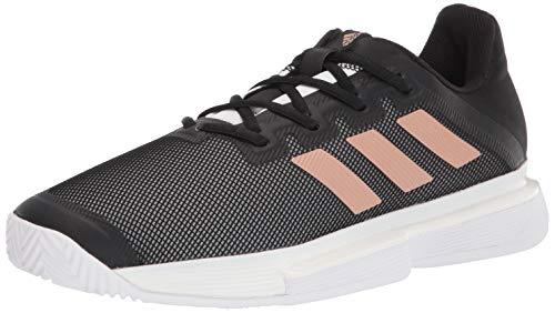adidas Women's Solematch Bounce Tennis Shoe, Black/Copper/White, 9
