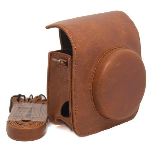 NodArtisan Vintga PU Leather Fuji Mini case for Fujifilm Instax Mini 90 Case Bag-Brown
