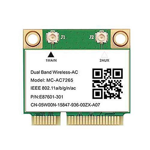 Teday 1200 Mbps Bluetooth 4.2 MC-AC7265 Media Mini PCI-E Wifi Tarjeta Inalámbrica AC7265 802.11ac 2.4G 5Ghz Para Portátil Mejor Que Intel 7260 7260HMW