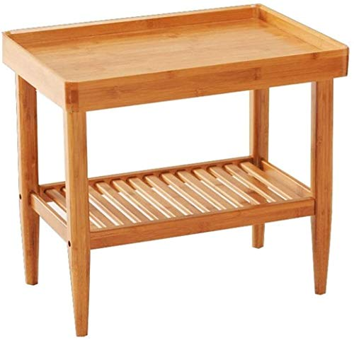 LYYJIAJU Small Coffee Tables Living Room Small Round Coffee Table Wooden Side Table Bedside Table, Living Room Bedroom with Wooden Legs