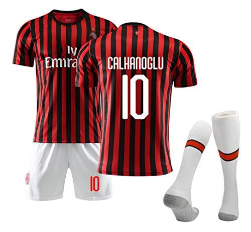 Ropa de fútbol para niños Niños Niñas Hombres Adultos, para Milán Jersey de fútbol de casa Swingman, Todos los tamaños NIÑO (2 4 6 8 10 12 años) y Adulto (S M L XL XXL)-Romagnoli 13-XL