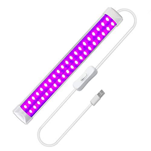 UV LED Schwarzlicht, Eleganted 10W USB Tragbare Ultraviolettes Licht UV LED Röhre für Parteien, Clubs, Halloween, UV-Kunst, UV-Härtung, Weihnachten, Fluoreszierendes Plakat, Neonlicht
