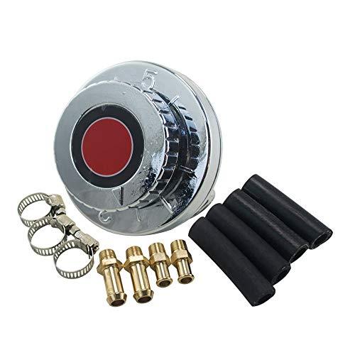 Parti del turbocompressori Pompa carburante olio Regolatore di pressione carburante canna di fucile regolabile auto universale con manometro for motore carburatore Modifica dell'automobile