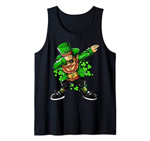 Disfraz de Irlanda Dabbing Duende Da de San Patricio Camiseta sin Mangas