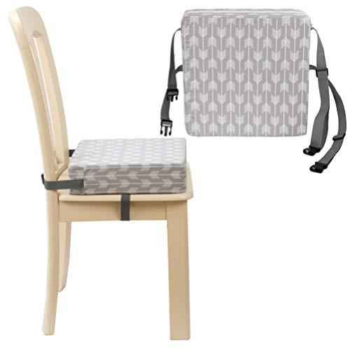 Tomaibaby 1 Pz Sedia da Pranzo per Bambini Cuscino Crescente Bambino Portatile Smontabile Seggiolone Cuscino di Rialzo (Grigio)