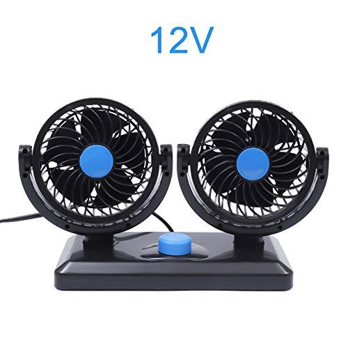 12 V 24 V Auto Dual Fan für Auto Auto Innenausstattung Zubehör 360 Graden-Ronde Koeling Zubehör Swing Fan Lüftung Board Zomer 12 V
