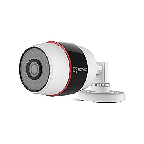EZVIZ C3S Ip Sécurité Caméra, Compatible Avec Alexa Echo Spot, 1080P HD, Focale 4mm, Wlan 2.4GHz Extérieure étanche Vidéo Caméra de Surveillance avec la Fente pour Carte SD, Vision Nocturne, Blanc