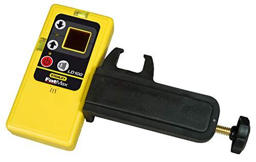 Stanley Laserontvanger LD100 (voor lijnlaser, 30 m werkbereik, houder, temperatuurbereik -10 ° tot 40 °C) 1-77-132