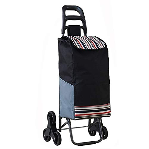 HIZLJJ Shopping Grocery Foldable Cart Best Comfort Shopping Trolley Bag with Rolling Swivel Wheels Utility Grocery Cart with Waterproof Canvas Bag (Color : C)