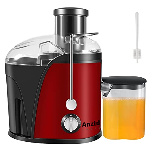Anzid Juicer Machines Vegetable and Fruit, Centrifugal juicers Best Sellers Easy to Clean No Pulp, Juice Extractor Cold Pressed Juicer Machine with Wide Mouth Feed Chute, Multi Speed Control Anti-Drip