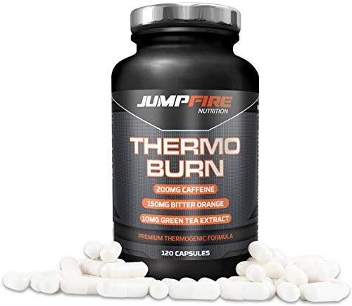 Jumpfire Nutrition T5 Fat Burner, Pre Workout Supplement, 120 Capsules, Slimming Pills, Metabolism Booster, Appetite Suppressant, Diet Pills for Weight Loss