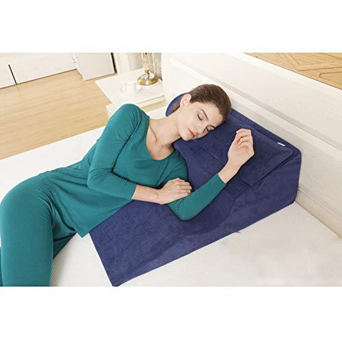サイドスリーパーズ用のベッドウェッジピロー、メモリーフォーム付きの睡眠用の9.8インチウェッジピローは、酸逆流、手術後、いびき、背中の痛みからの解放に役立ちます