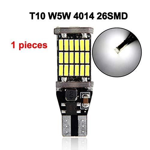 GSDGBDFE 1x Bombilla de Coche T15 W16W T10 W5W Luz de señal Super Brillante Blanco 4014 SMD CANBUS Sin Error DC12V Aparcamiento inverso Lámparas Atrás (Emitting Color : T15 W16W 45SMD)